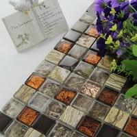 Marmorizzata pietre di cristallo mosaico di vetro piastrelle HMGM1091 backsplash mattonelle della parete della cucina adesivo bagno