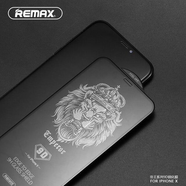 REMAX 9D Full Coverกระจกนิรภัยป้องกันหน้าจอสำหรับiPhone XS XR XSสูงสุด11 11PRO 11PROMAX 12PRO 12PROMAXพื้นผิวโค้งฟิล์ม