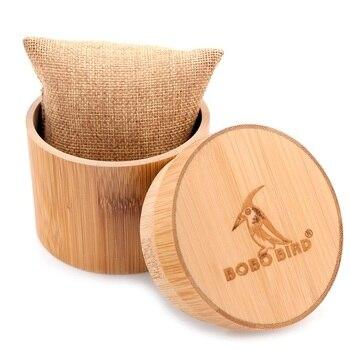 Coffret cadeau en bambou pour montre en bois -Forme cylindrique