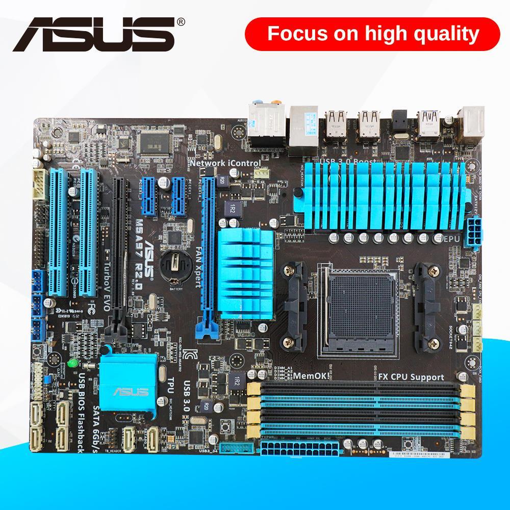 Asus M5A97 R2.0 Desktop Motherboard 970 Socket AM3+ DDR3 SATA3 USB2.0 ATX m5a97 le r2 0