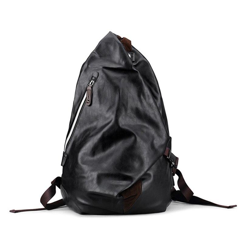 Senkey style Men Backpack Fashion PU Leather Mens Shoulder Bags Men Business Casual Male School Boys Vintage Laptop Backpack