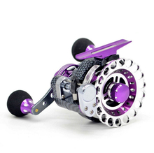 10 BB 2.8:1metal reel micro-lead Automatic line row raft fish reel high speed ratio carbon with Aluminum fishing line wheel