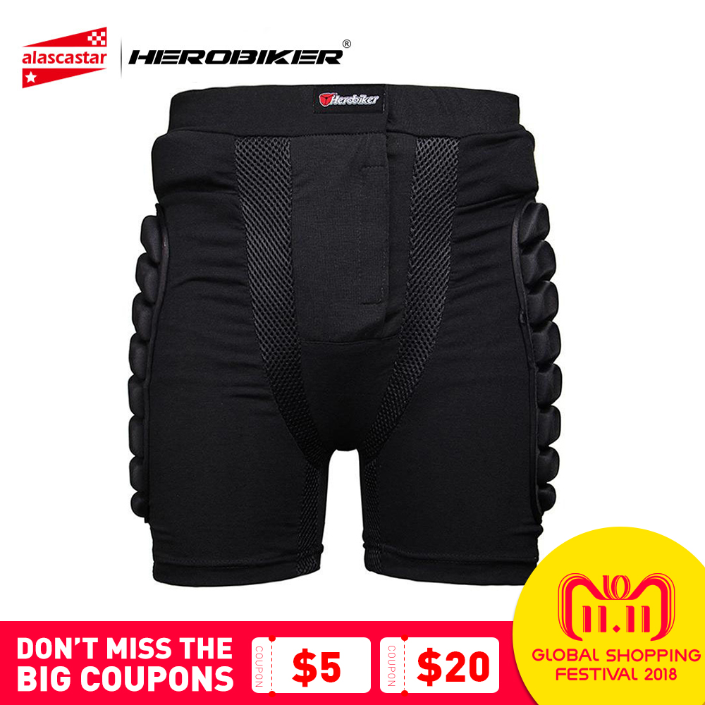 HEROBIKER Unisex Ski Snowboard Skating Skateboard Protective Gear Hip Butt Pad Extreme Sport DH MTB Bike Protection Armor Shorts herobiker armor removable neck protection guards riding skating motorcycle racing protective gear full body armor protectors