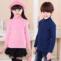 Blusas de malha Para Crianças Meninas Meninos Roupas de Gola Alta Blusas Unissex Roupa Do Bebê Outono Inverno Adolescente Outerwear Topos