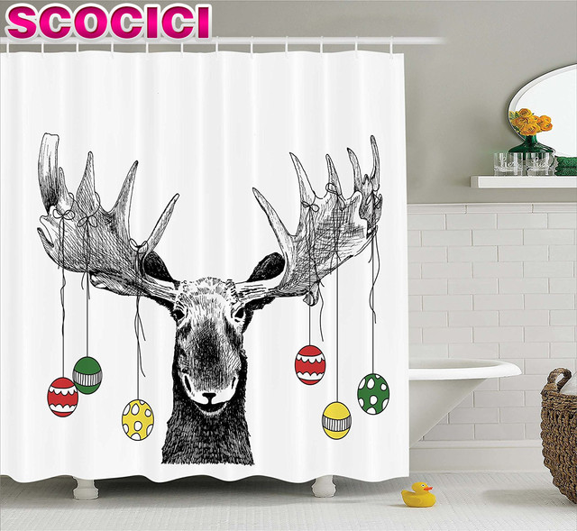 Best Moose Shower Curtains Contemporary