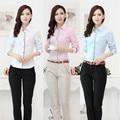Novo Plus Size moda estilo uniforme terninhos formais mulheres desgaste do trabalho ternos blusas e calças para senhoras escritório roupas set