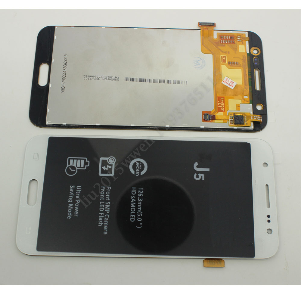 LCD Display+Digitizer touch Screen for Samsung GALAXY J5 J5008 SM-J500F white  replacement pantalla parts brand new for samsung j1 lcd display with touch screen digitizer for samsung galaxy j1 j120f j120m j120h sm j120f lcd 3 color
