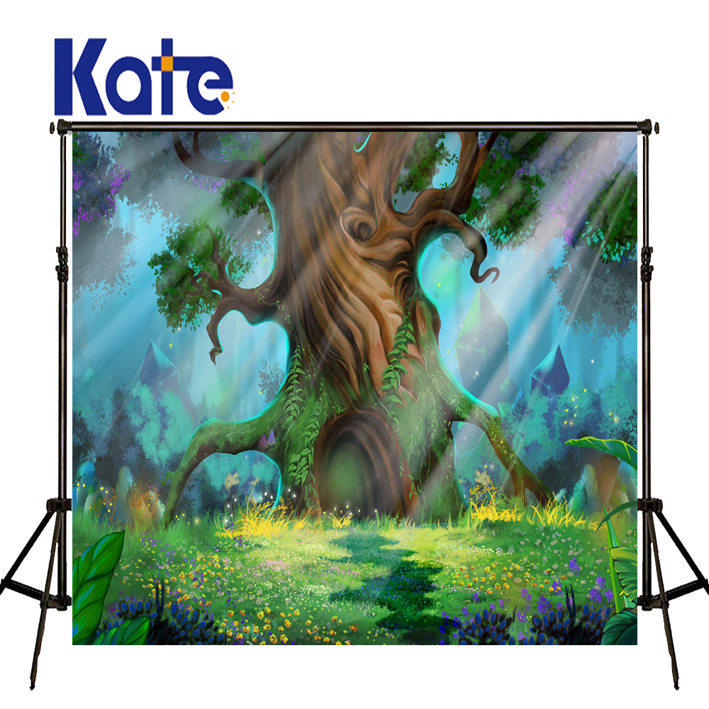 KATE Spring Photography Backdrops Forest Background Newborn Photography Background Fairy Tale World Photo for Children Photos vinyl photography background fairy tale
