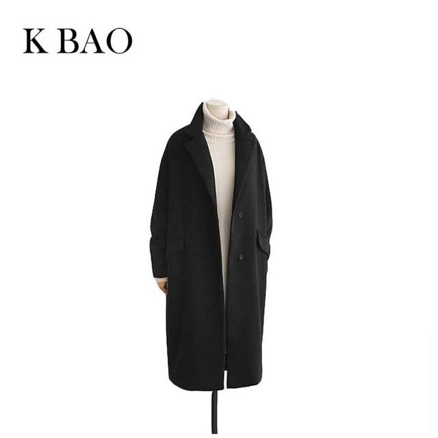 2016 Otoño Invierno Moda Mujeres Abrigo de Lana Suelta prendas de Vestir Exteriores de Lana de Imitación Forro Acolchado Abrigo estilo Casual