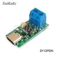 ZY12PDS typu C USB-C PD2.0 3.0 skręcić DC USB oszustwa szybkim ładowaniem wyzwalacza badania opinii publicznej detektor