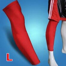 2x NEW Sport font b Football b font Basketball Cycling Strech Leg Knee Long Sleeve L