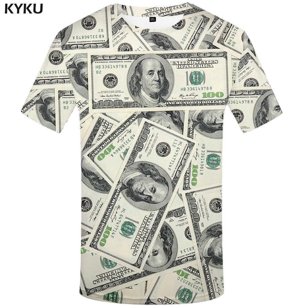 """Мужская винтажная футболка KYKU, летняя белая футболка с 3D-принтом из аниме """"Жемчуг дракона"""""""