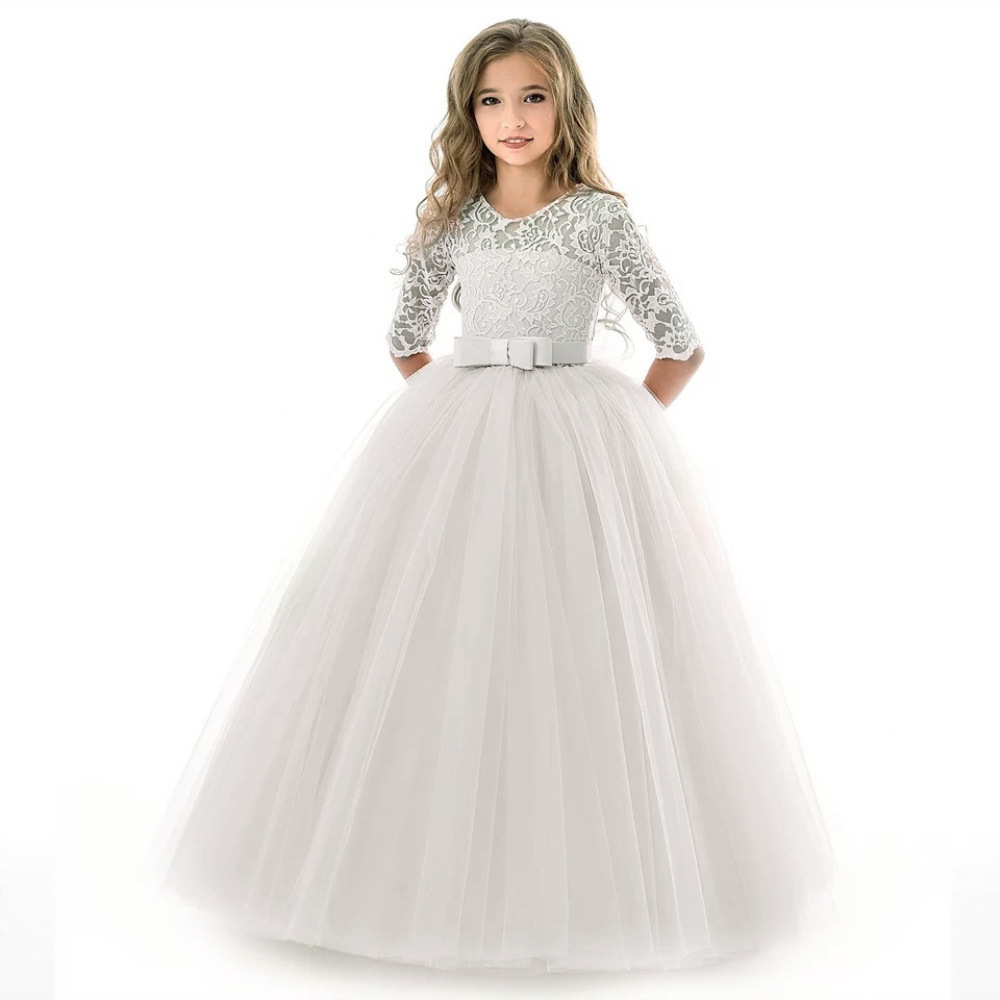 Girl's Birthday Party Dress Flower Girl's Banquet Party First Eucharist Party Dress Little Bridesmaid Wedding Party Dress 3