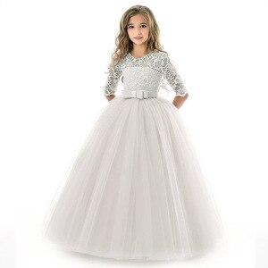 Image 4 - Vestido para meninas, vestido de festa de aniversário da menina flor banquete vestido primeiro vestido de festa de eucharsta vestido de festa pequena dama de honra vestido de festa de casamento