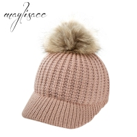 Maylisacc Baby Autumn Winter Hat Fashionable for 2 5 Years Old Girl's Boy's Adjustable Baseball Hat Outdoor Hairball Cap