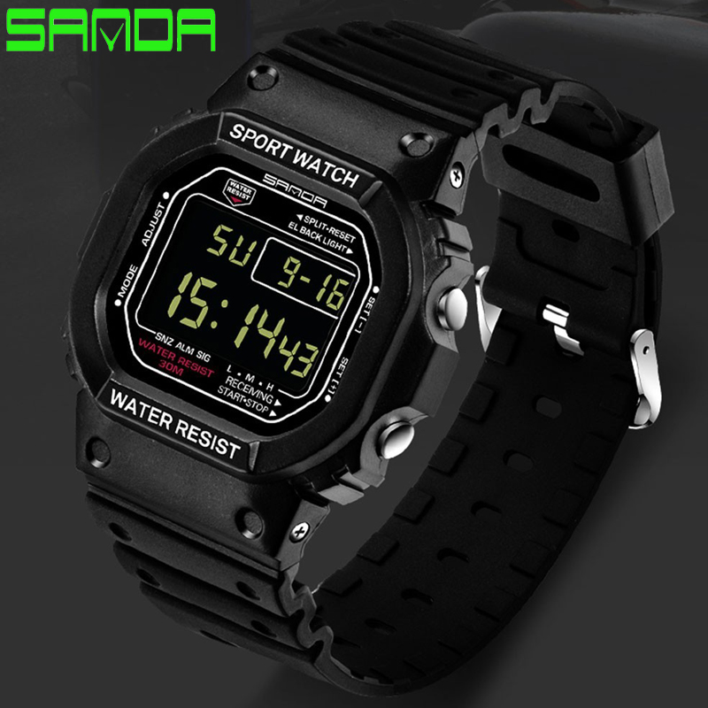 Sanda Herenhorloges elektronisch led Montre homme sporthorloge - Herenhorloges - Foto 1