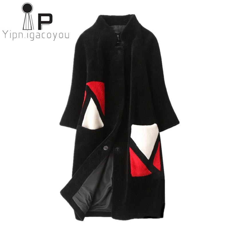 Зимнее длинное женское пальто с искусственным мехом из кроличьей шерсти бобра, Толстая теплая свободная элегантная женская парка с капюшоном, куртка из искусственного меха размера плюс
