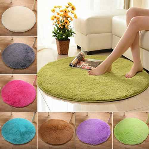 Home Decor Soft Bath Bedroom Non-slip Floor Shower Rug Yoga Plush Round Mat carpet Home Textile