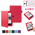 Simplestone Magnetic Auto Sleep Leather Cover Case For NEW KOBO AURA H2O eReader+HD Screen Protective Film+TOUCH PEN Dec8 mosunx