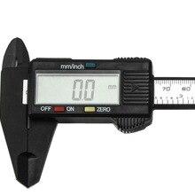 150 мм 6 дюймов ЖК-дисплей цифровых электронных углеродного волокна штангенциркуль, микрометр, измерительный инструмент Калибр линейный цифровой штангенциркули
