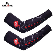 KINGBIKE Breathable Cycling Arm Sleeves Quick Dry MTB Bikes Riding Armwarmers Bicicleta Bicycle SleevesUV Protection Arm Sleeves
