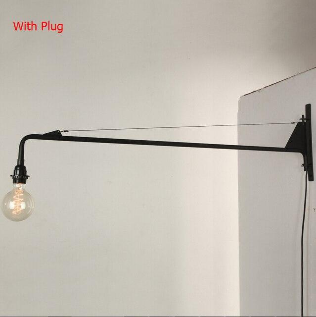 País americano de la vendimia lámpara de pared loft potence pared ...