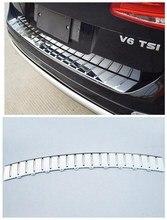 Подходит для Volkswagen Touareg 2011 2012 2013 2014 2015 2016 2017 ABS Chrome заднего бампера протектор Подоконник Магистральные протектора плиты