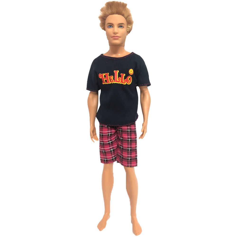 NK 2 unids/set vestido Casual de pareja diario para muñeca Barbie accesorios mejor chico chica pareja cumpleaños regalo juguete para Ken muñeca 001A 9X