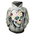 Multicolor 3D Skull Hoodie Men Women Hip Hop Streetwear Fashion Casual Loose Hooded Tops Harajuku Graphic Sweatshirts Dropship