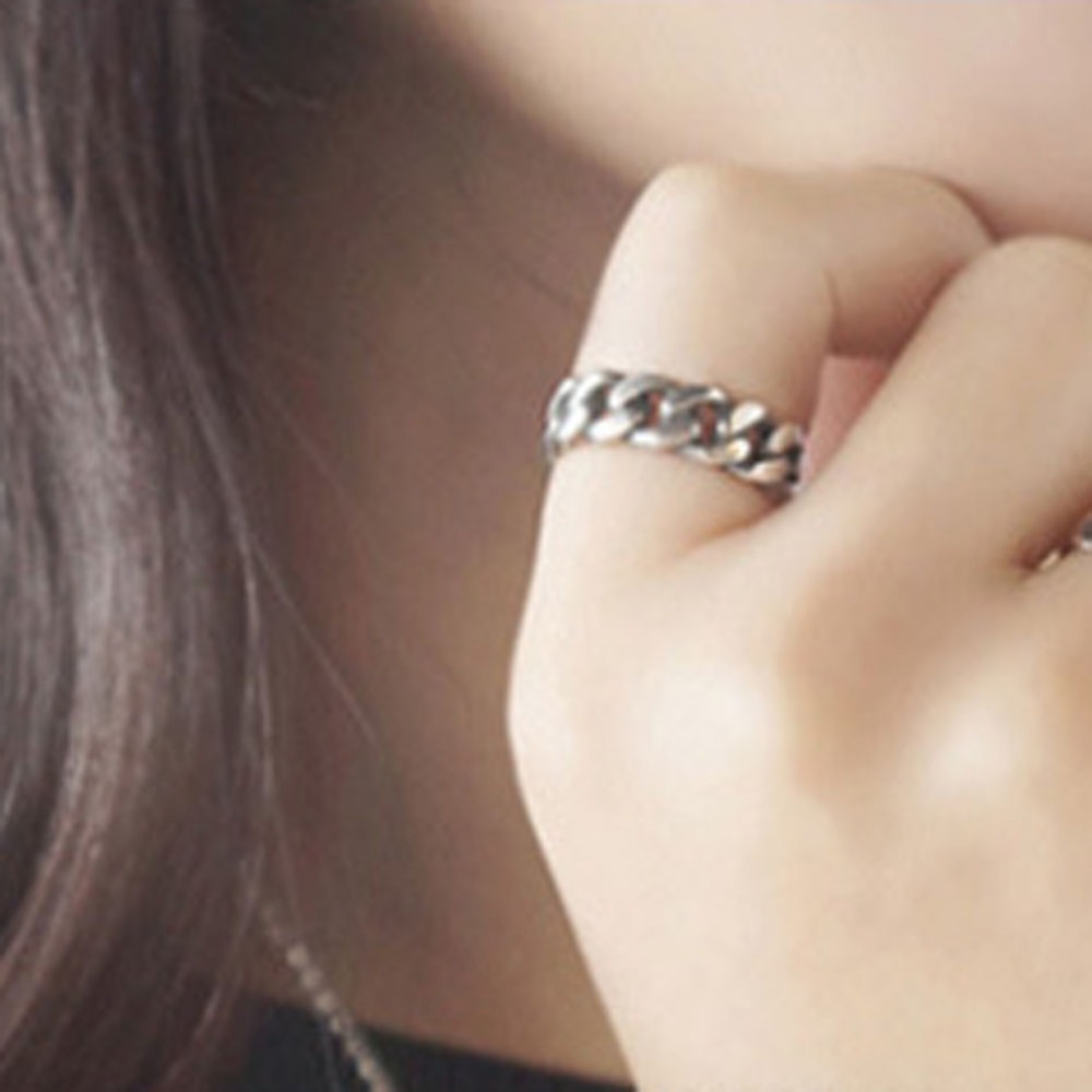 Chain Jewelry Finger-Ring Opening Gorgeous Silver-Plated Vintage Antique Unisex New-Fashion