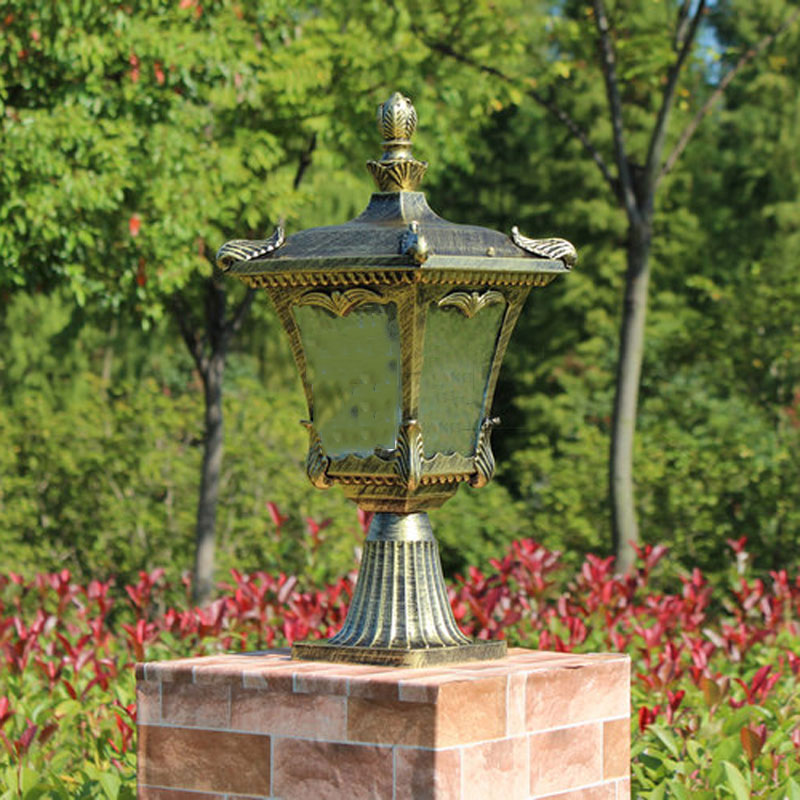 Column head lamps europe style garden wall fence lamp yard post lights outdoor chapiter lighting WCS-OCL0023 ...