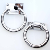 80mm Modern Fashion Shaky Drop Rings Furniture Handles Silver Room Wooden Door Wooden Chair Sofas Pull