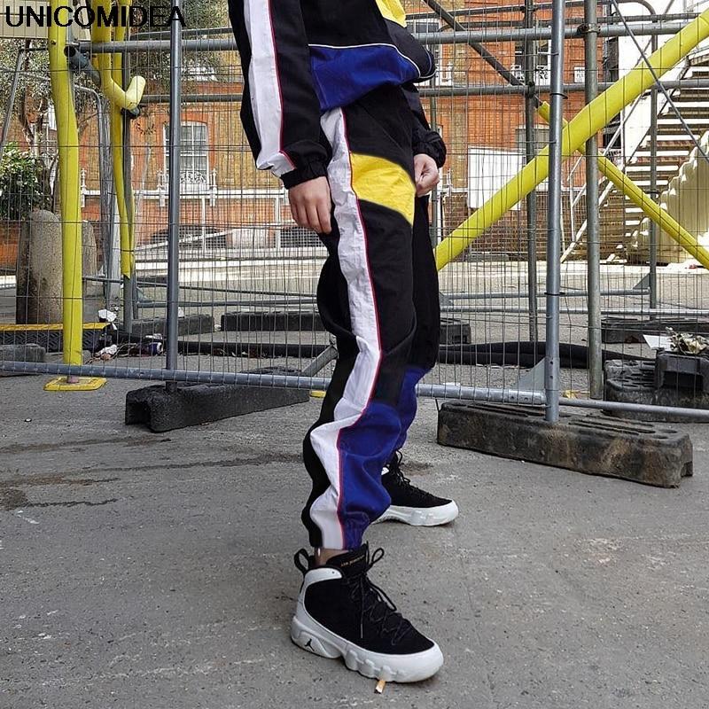 2019 Women High Waist Patchwork   Pants   Trousers Pencil   Pants   Streetwear Gym Sports Cargo   Pants   Loose Joggers Women Bottom   Capris