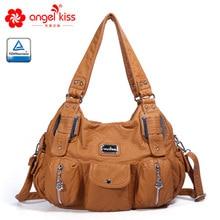 Женские сумки Angelkiss, женские Сумки из искусственной кожи, женская сумка через плечо, большая сумка-мессенджер с ручкой сверху