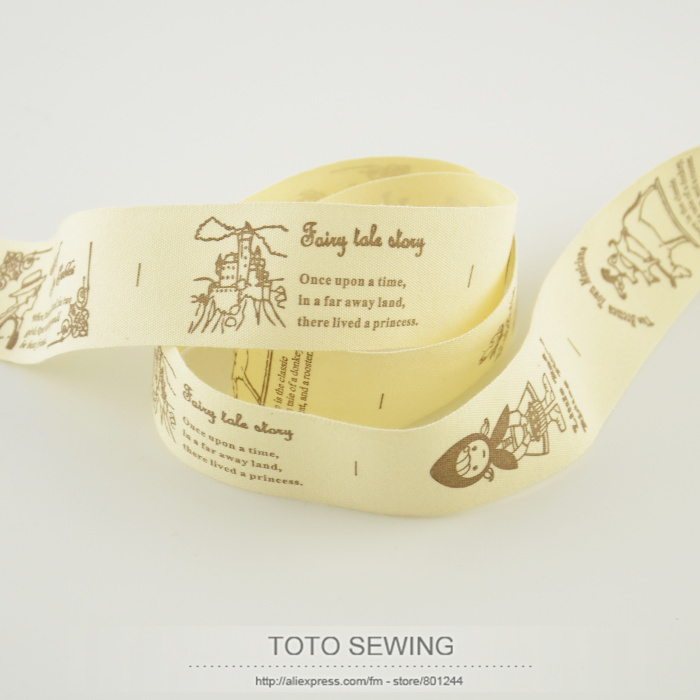 Mini.order is $5 (mix order) Zakka 3CM width fairy little girl label TOTO sewing accessory cotton ribbons sawing free shipping
