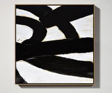 Abstract Art Black and White Minimalist oil Painting Minimal Textured on Canvas Contemporary Large Paintings