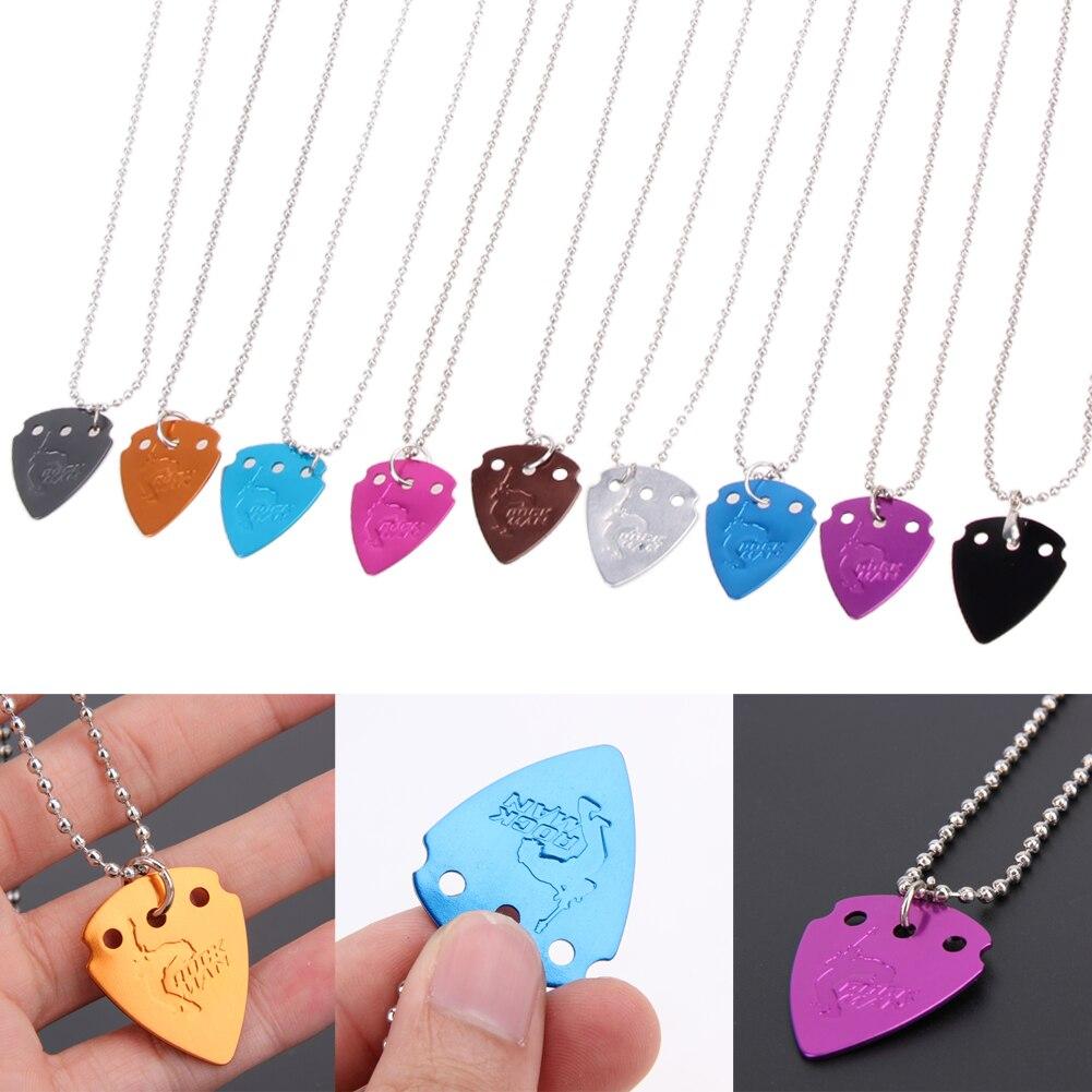buy 4pcs lot aluminium alloy electric guitar pick pendant necklace chain. Black Bedroom Furniture Sets. Home Design Ideas