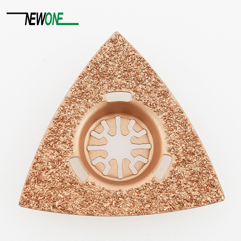 1 Pcs Of  80mm Triangular Carbide Rasp Saw Blade Fit For Oscillating MultiTool As TCH,FEIN,Dremel Etc,best For Renovator Dremel