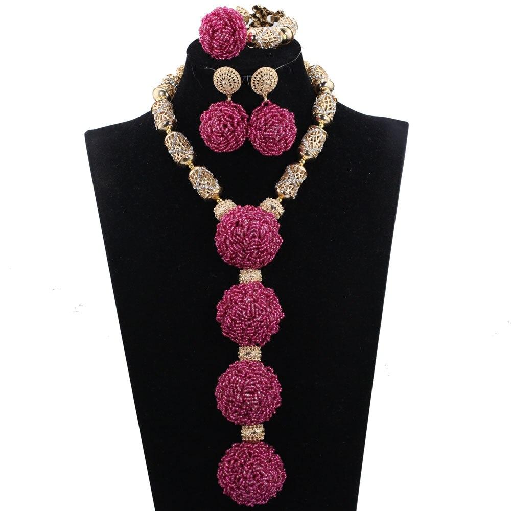 New Purple Bridal Crystal Jewelry Sets Nigerian Wedding African ...