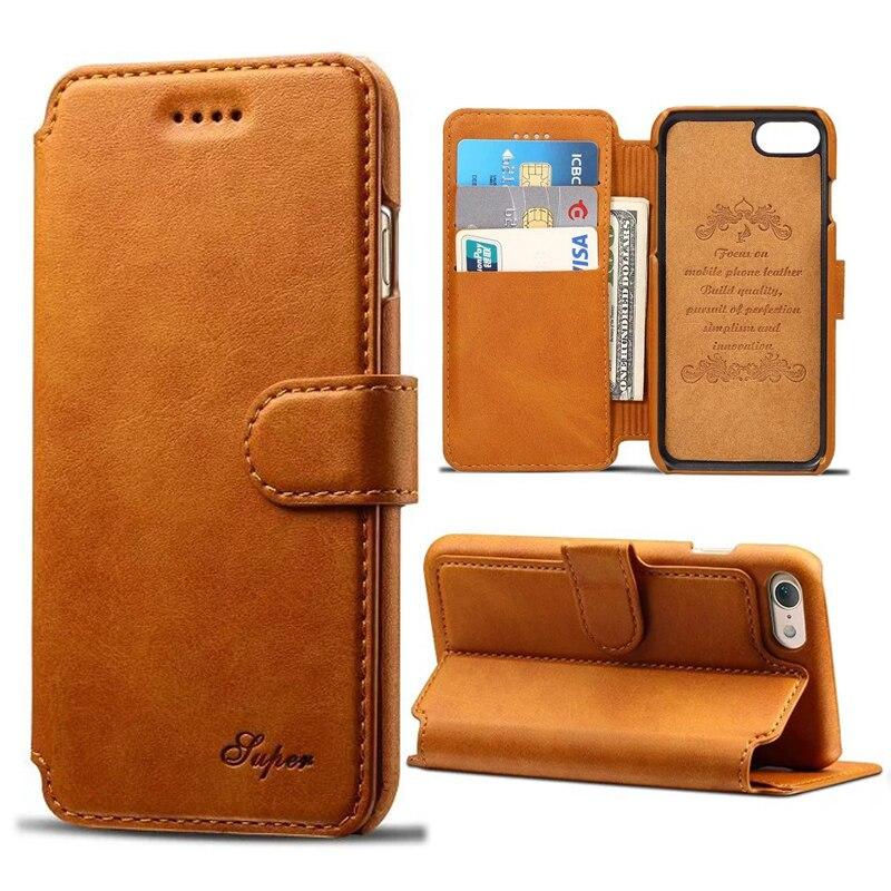 imágenes para Para Apple iPhone 6 S/6 Cubierta de la Caja de la Carpeta Retro Patrón de Piel de Becerro casos Para el iphone 6 6 S Plus Bolsa Del Tirón Con el Portatarjetas