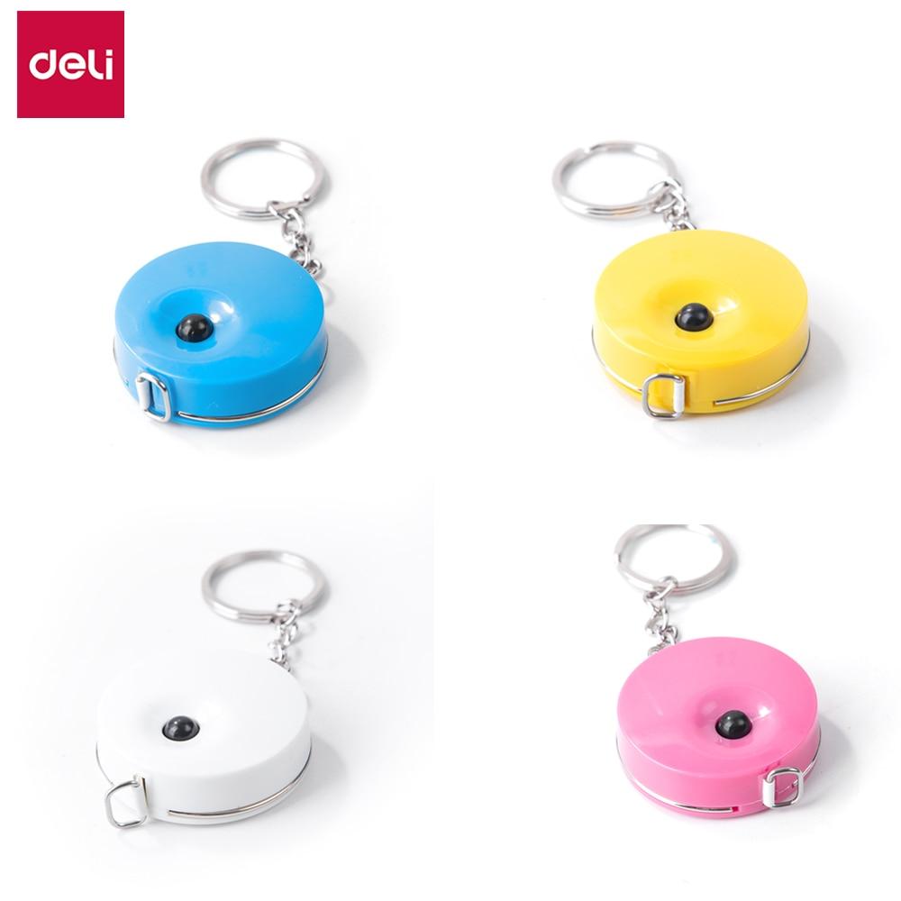 DELI E8214 Plastic Tape Measure - 1.5m*7.5mm - Plastic Ruler - 4 Color