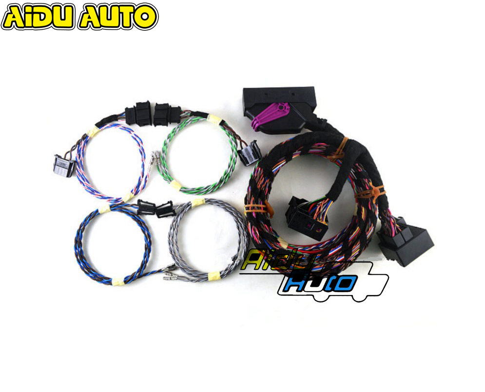 USE FOR VW Golf 6 MK6 Plug play RNS510 Dynaudio System acoustics Wire harness Cable in Cables Adapters Sockets from Automobiles Motorcycles