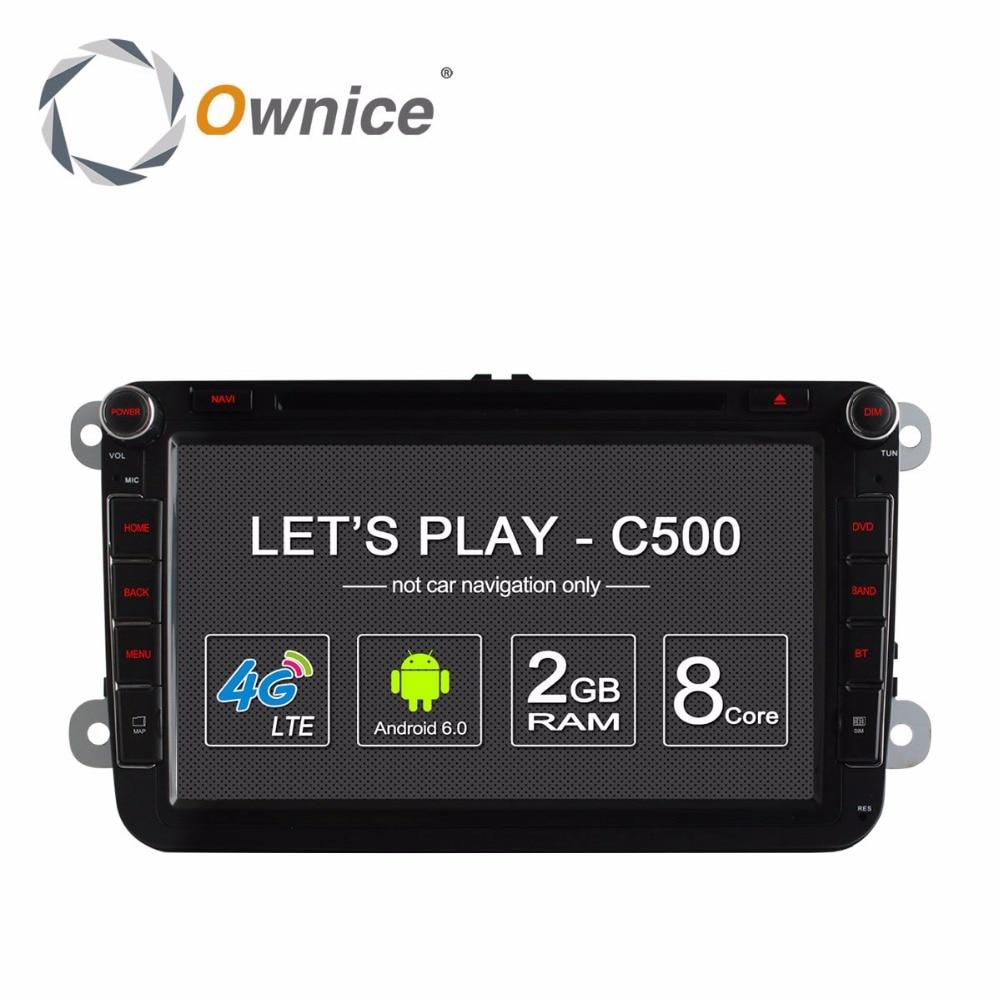 imágenes para Ownice C500 Android 6.0 Octa Core Radio Coches Reproductor de DVD para VW Golf 5 Polo Jetta mk6 Tiguan Passat B6 5 cc skoda octavia 4G SIM