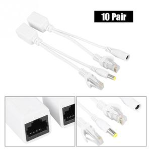 Image 2 - 10 Pair DC 12 V IP Camera POE RJ45 Cable Power Over Ethernet Adapter Injector  Splitter circuit isolation protection