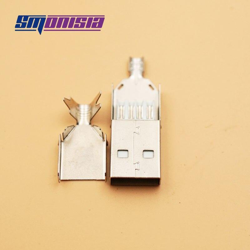20 Наборы для ухода за кожей DIY 2.0 USB Мужской 5pin разъем Хвост зарядки Порты и разъёмы сварки металла USB штекер