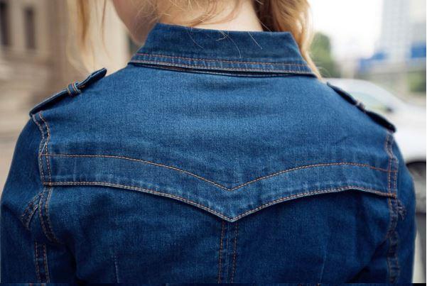 857b3673b1 2018 maxi S 4XL mujeres Vestido largo de mezclilla Otoño Invierno Vestido  vaquero OL gran tamaño jean con cinturón vestidos de verano para mujer en  Vestidos ...