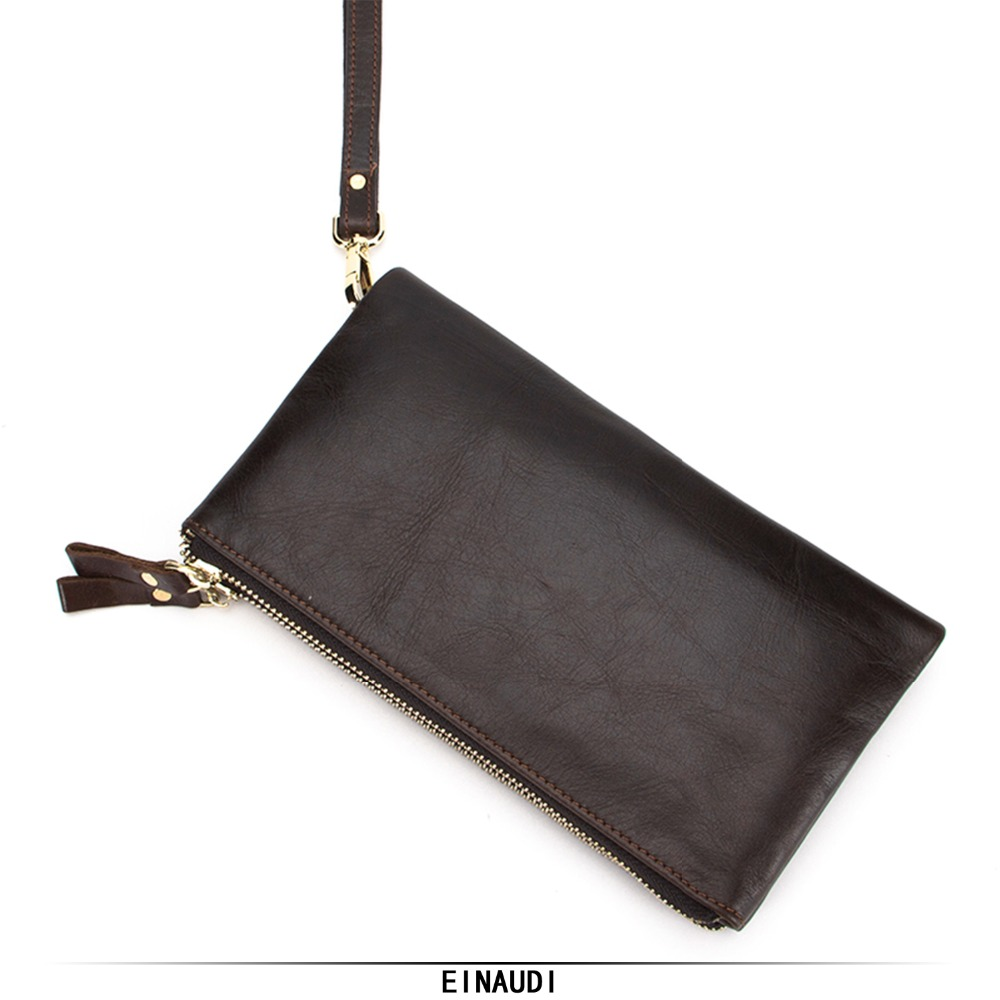 New Brand Men Long Wallets Male Genuine Leather Clutch Man Cell Phone Pocket Boy Money Bag Double zipper High Quality Coin Purse