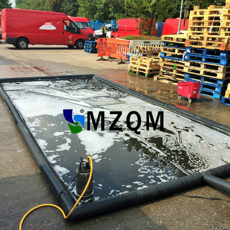 MZQM 6x3m Commercial Customized Water Containment Mat PVC Portable Inflatable Car Wash Mats commercial sea inflatable blue water slide with pool and arch for kids