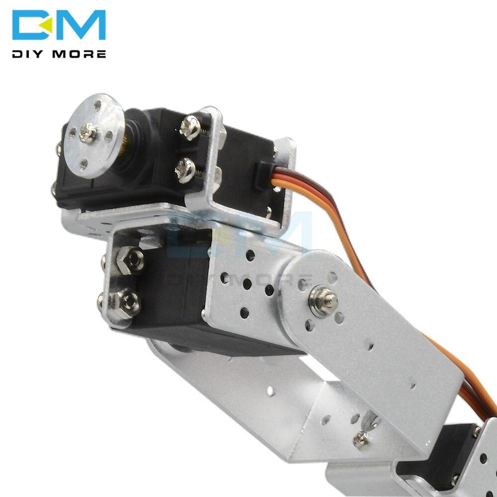 Image 4 - マニピュレータ ROT3U 6DOF アルミロボットアームの機械ロボットクランプ爪 arduino のためのシルバー -    グループ上の 電子部品