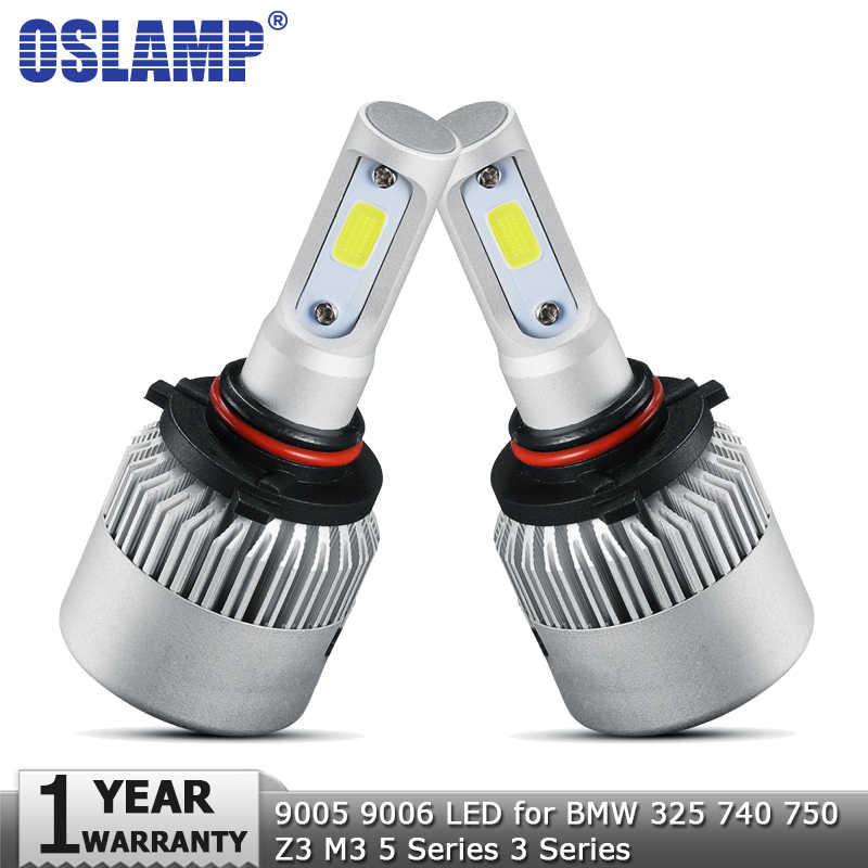 Oslamp 9005 9006 Hi lo Car LED Headlight Bulbs 72W 8000lm COB Auto Headlamp 12v 24v for BMW 325 740 750 Z3 M3 5 Series 3 Series